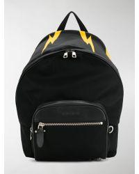 Neil Barrett Lightning Print Backpack - Black