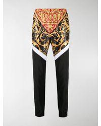 Versace Printed Tracksuit Trousers - Black