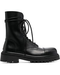 Vetements Lace-up Combat Boots - Black