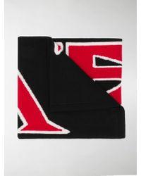 Fendi Knitted Logo Scarf - Black
