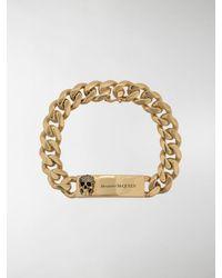 Alexander McQueen Bracciale Chain Skull - Metallizzato