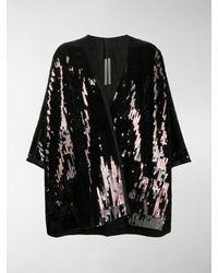 Rick Owens Oversized Sequin Kimono - Black