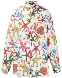 Versace Hemd mit Trésor de la Mer-Print - Weiß