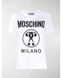 Love Moschino T-Shirt/_Three-Ice Cream And Logo Print Donna