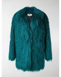 MM6 by Maison Martin Margiela Faux-fur Coat - Green