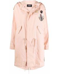 Raf Simons Photograph-print Hooded Coat - Pink