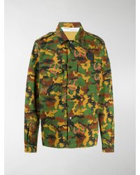 Off-White c/o Virgil Abloh Camouflage Print Shirt - Green