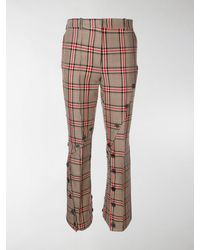 ROKH Checked Button Pants - Multicolor