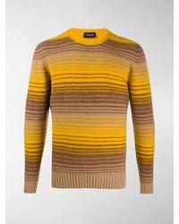 Drumohr Stripe Knit Jumper - Yellow