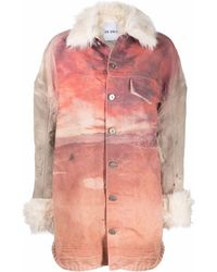 The Attico Desert Sunset-print Single-breasted Jacket - Pink