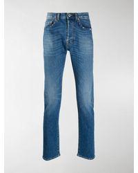 Valentino Rockstud Slim-fit Jeans - Blue