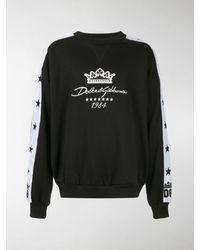 Dolce & Gabbana Felpa con ricamo - Nero