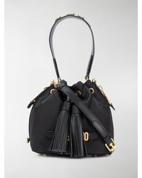 Moschino Logo Bucket Bag - Black