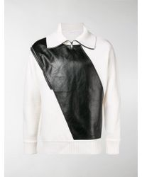 Givenchy Panelled Zip Jumper - White