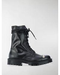 Vetements Combat Ankle Boots - Black