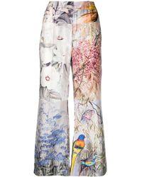 Zimmermann Pantaloni svasati con design patchwork - Viola