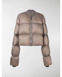Rick Owens Cropped Duvet Puffer Jacket - Gray