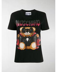 Moschino T-Shirts für Damen - Schwarz