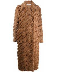 Stella McCartney Cappotto Melina Fur Free Fur - Marrone