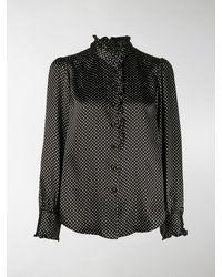 Marc Jacobs Runway Ruffle Collar Blouse - Black