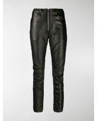 Marcelo Burlon Shiny Biker Trousers - Black