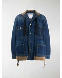 Sacai Oversized Denim Jacket - Blue