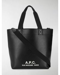 A.P.C. - Eddy Bag In Black Polyurethane - Lyst