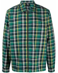 Stussy Plaid-check Cotton Shirt - Green