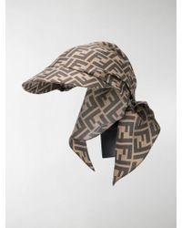 Fendi - Zucca Bandana Hat - Lyst aaeaa337d8a