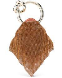 Benedetta Bruzziches Casper Satin Clutch Bag - Orange