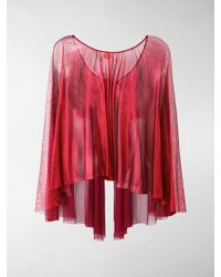 Maria Lucia Hohan - Sheer Round Neck Blouse - Lyst