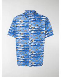 Lanvin - Camicia con squali - Lyst