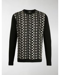 Fendi Pullover mit Logo - Schwarz