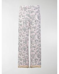 Prada Rabbit Print Pajama Pants - Multicolor