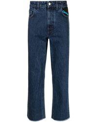 Raf Simons Community Straight-leg Jeans - Blue