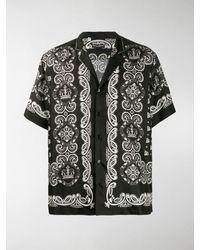 Dolce & Gabbana Bandana Print Shirt - Black