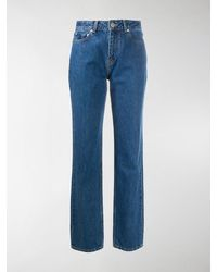 Ganni Straight-leg High-rise Jeans - Blue