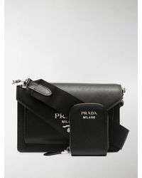 Prada Envelope Crossbody Bag - Black