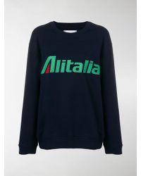 Alberta Ferretti - Alitalia Patch Sweatshirt - Lyst