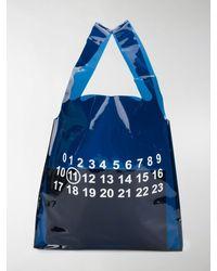 Maison Margiela Borsa tote con stampa - Blu