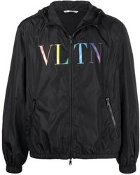Valentino - Logo-print Windbreaker - Lyst