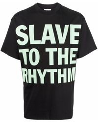 Honey Fucking Dijon Slogan-print Cotton T-shirt - Black
