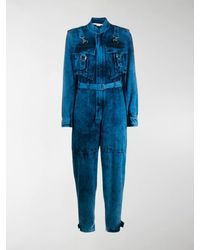 Stella McCartney Bleached Denim Jumpsuit - Blue