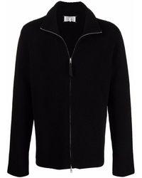 Maison Margiela Ribbed-knit Zip-front Cardigan - Black