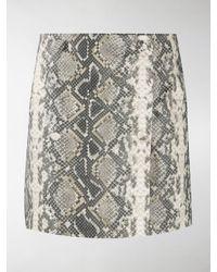 ROTATE BIRGER CHRISTENSEN Snake Print Skirt - Metallic