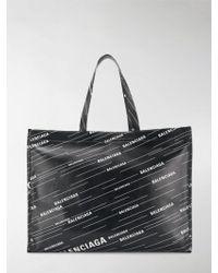 Balenciaga - Borsa shopper con logo - Lyst
