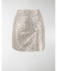ROTATE BIRGER CHRISTENSEN London Sequin-embellished Mini Skirt - Metallic
