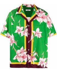 Valentino Camicia con stampa - Verde