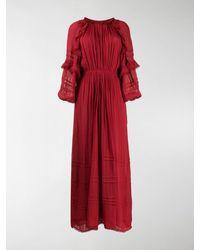 Étoile Isabel Marant Embroidered Flared Maxi Dress