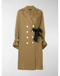 Eudon Choi - Double Buttoned Trench Coat - Lyst